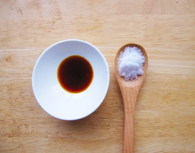 醤油の小さじ1杯、大さじ1杯の塩分量