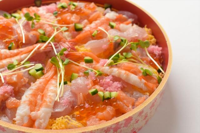 海鮮ちらし寿司の付け合わせ、献立&おかず