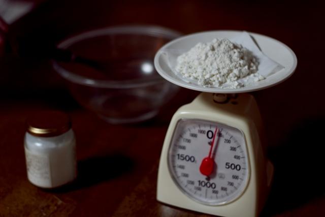 小麦粉100gと200gの簡単な測り方