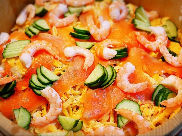 【ちらし寿司/雛祭りの献立料理】ちらし寿司の簡単お祝いレシピ~子供が喜ぶ人気のチラシ寿司の献立~