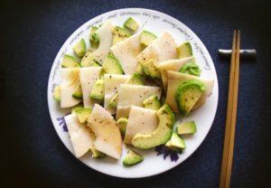 アボガドとタケノコのサラダ