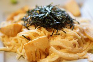 タケノコのたらこスパゲティ