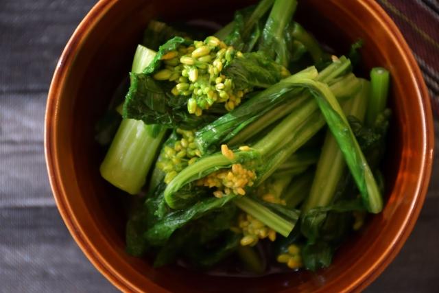 菜の花のおひたし。日持ちと、作り置きの冷蔵庫、冷凍の賞味期限の目安