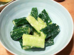 きゅうりの塩麹漬け~簡単レシピの付け合わせ~