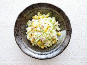 キャベツのコールスロー:キャベツ&トウモロコシの副菜・付け合わせ