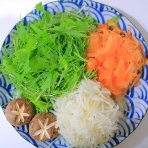 豚しゃぶ野菜の具材:人参