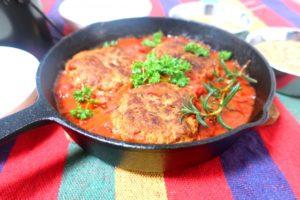 トマト煮込みハンバーグの献立&付け合わせ、副菜